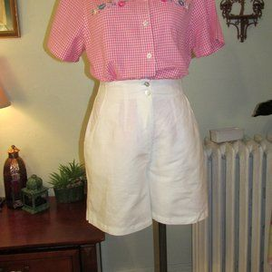 Vintage 90s White Casual Shorts